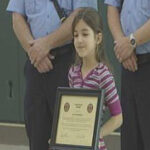 Eight-year-old hero honored