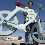 Izhar Gafni invents a cardboard bicycle